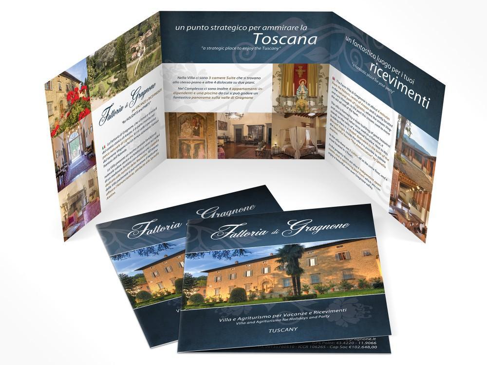realizzazione depliant e brochure per fattoria di gragnone, agriturismo ad Arezzo in Toscana