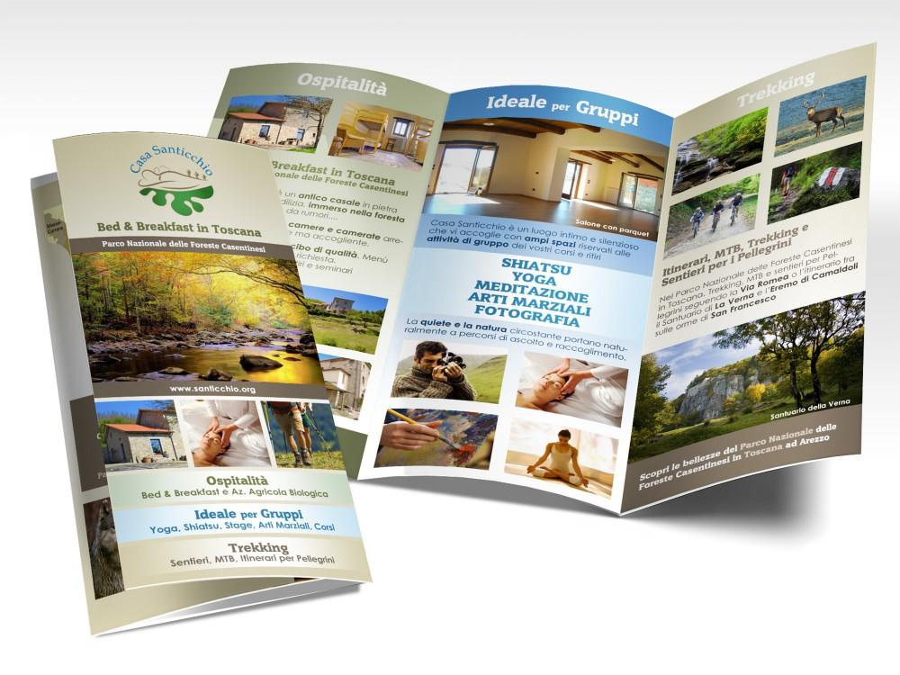 Brochure per Bed Breakfast in Casentino, Arezzo in Toscana