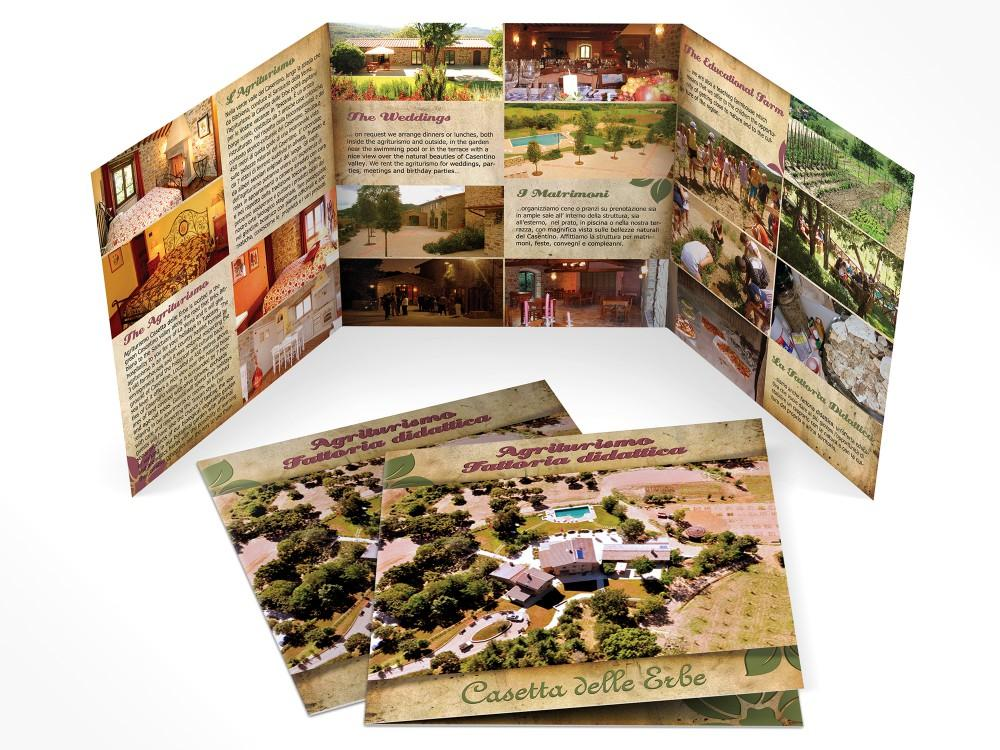 Grafica Brochure per Fattoria didattica e agriturismo in Casentino ad Arezzo in Toscana