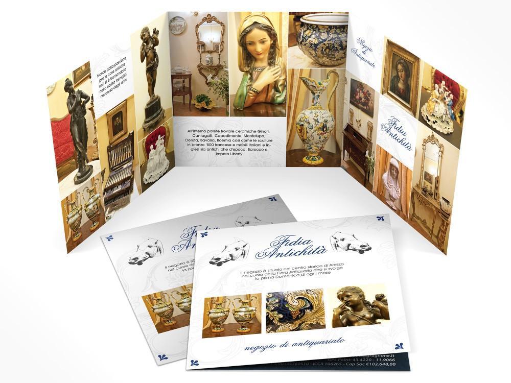 Brochure e servizio fotografico per negozio di mobili antichi ad arezzo