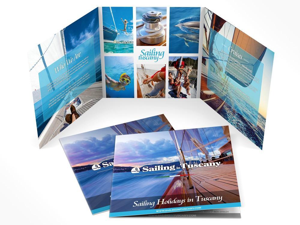 Realizzazione grafica Brochure per vacanze in barca a vela in toscana
