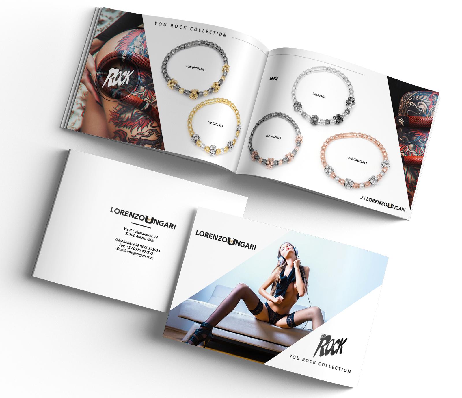 Realizzazione grafica e impaginazione cataloghi aziendali for Gioielli design