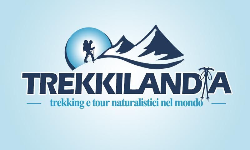 Logo per Guida Ambientale Trekking, agenzia viaggi piedi