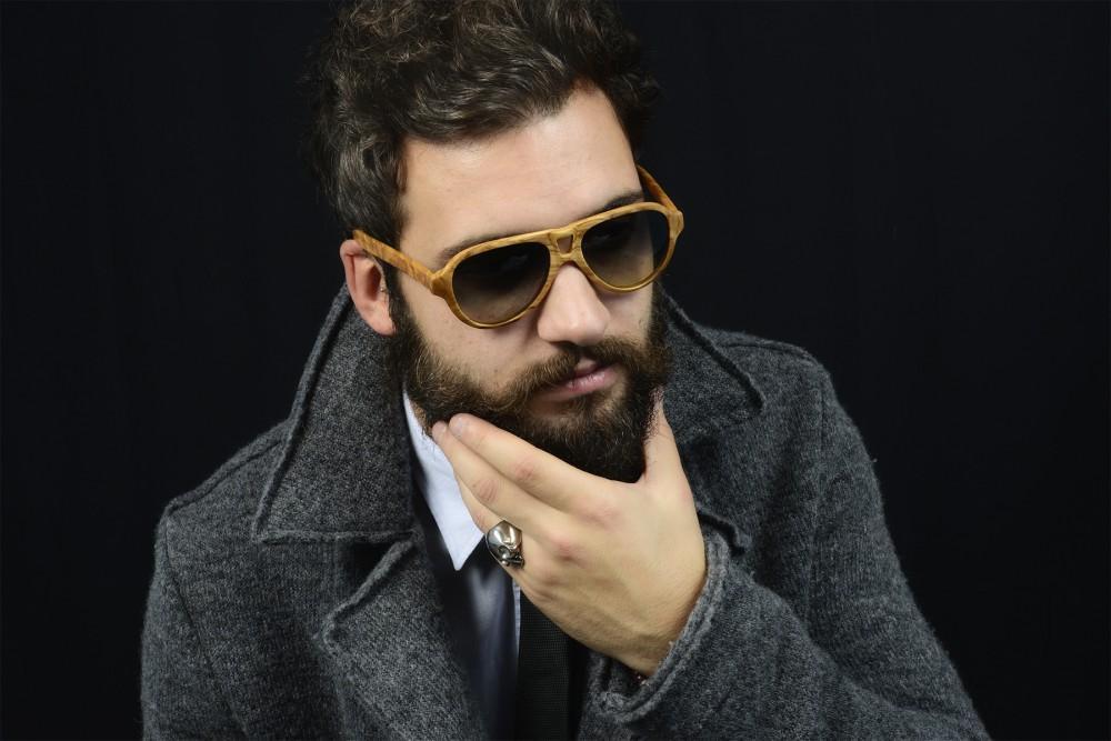 servizio fotografico modello con occhiali ad arezzo