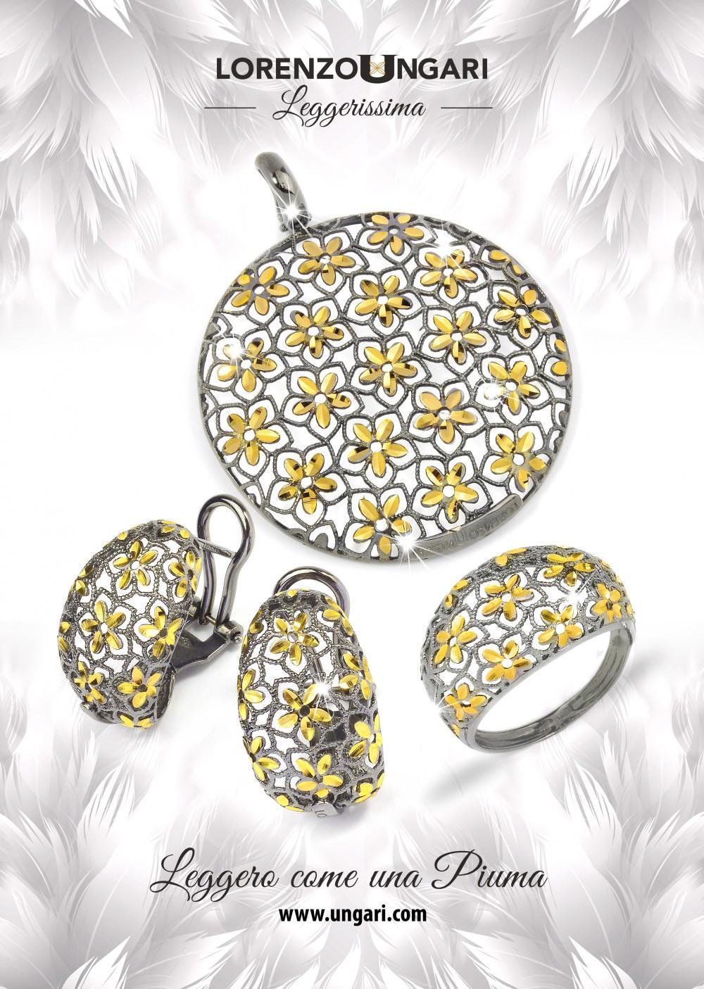 foto per gioielli in oro e gradica pubblicità ad arezzo