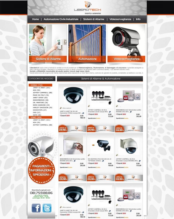 personalizzazione grafica negozio ebay che vende accessori per videosorveglianza