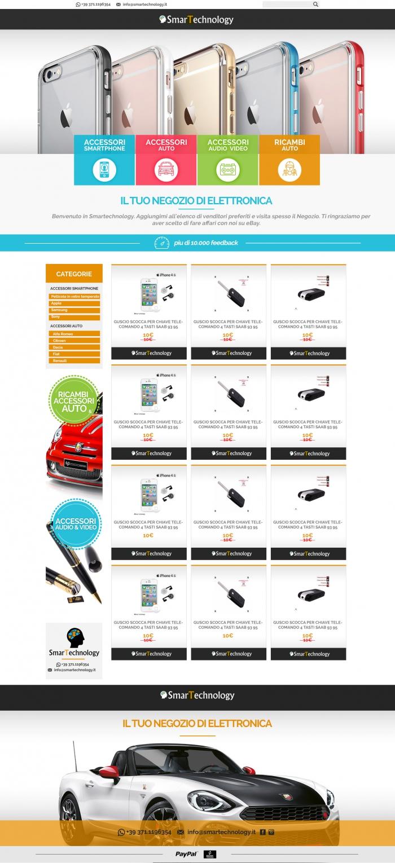 realizzazione grafica negozio ebay che vende cover per smatphone e accessori per auto