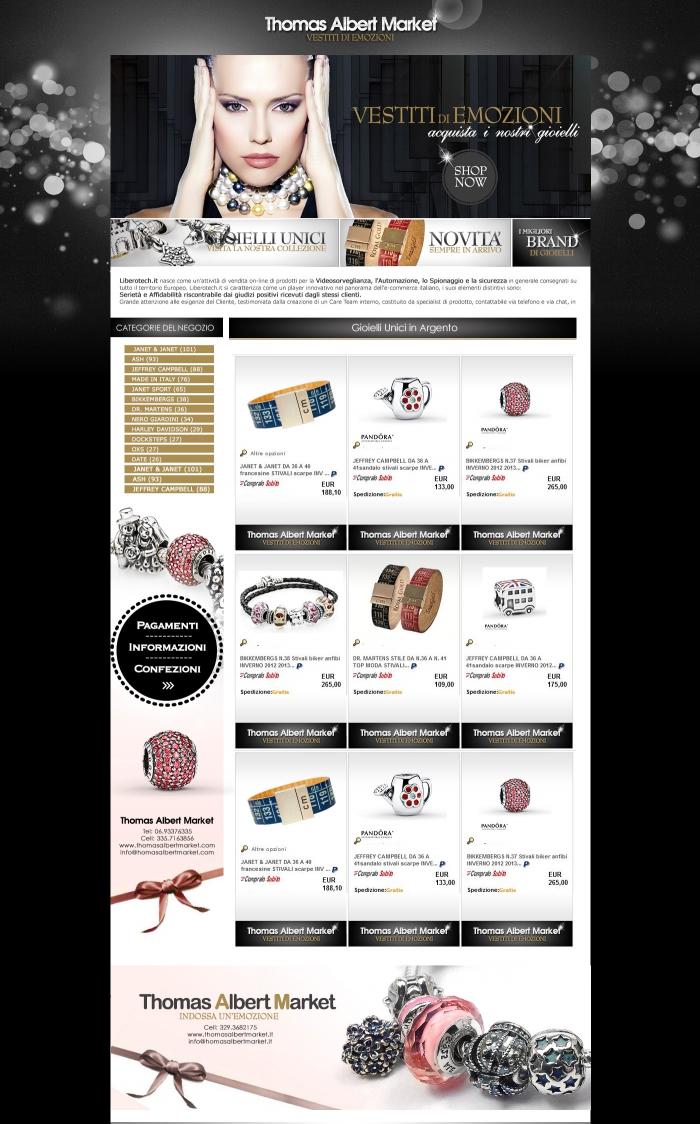 realizzazione grafica negozio ebay che vende gioielli di lusso