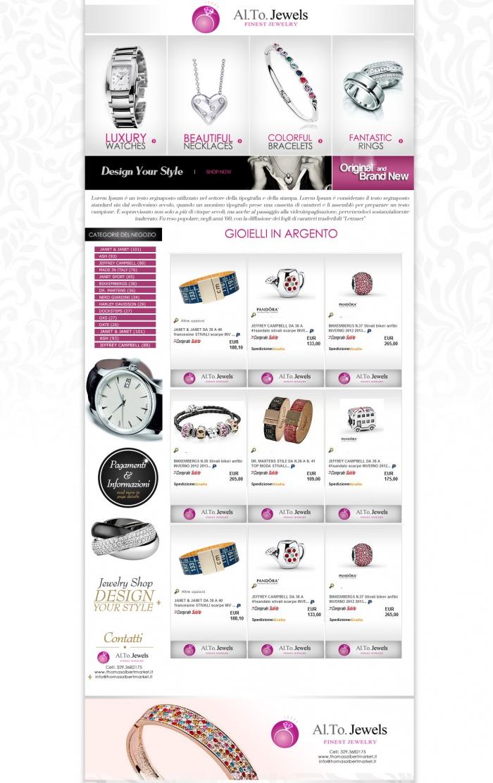 realizzazione grafica negozio ebay che vende gioielli e orologi di lusso