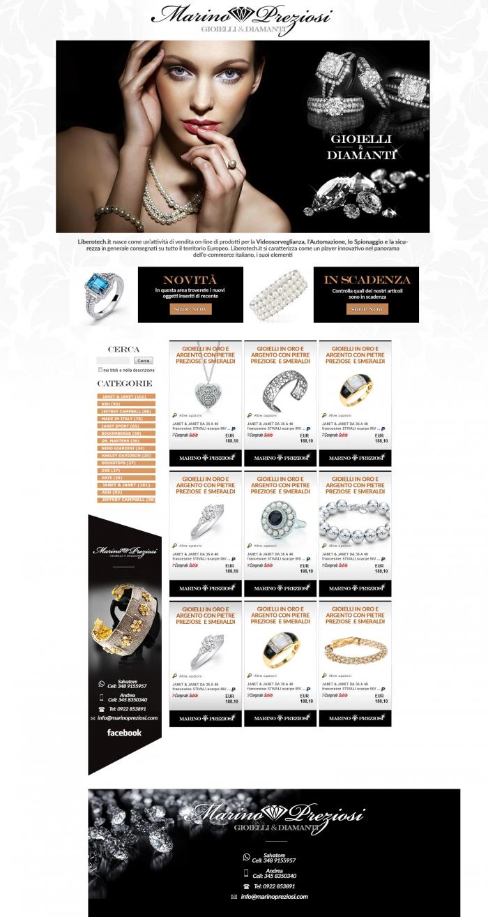 realizzazione grafica negozio ebay che vende gioielli in oro, diamanti e perle naturali
