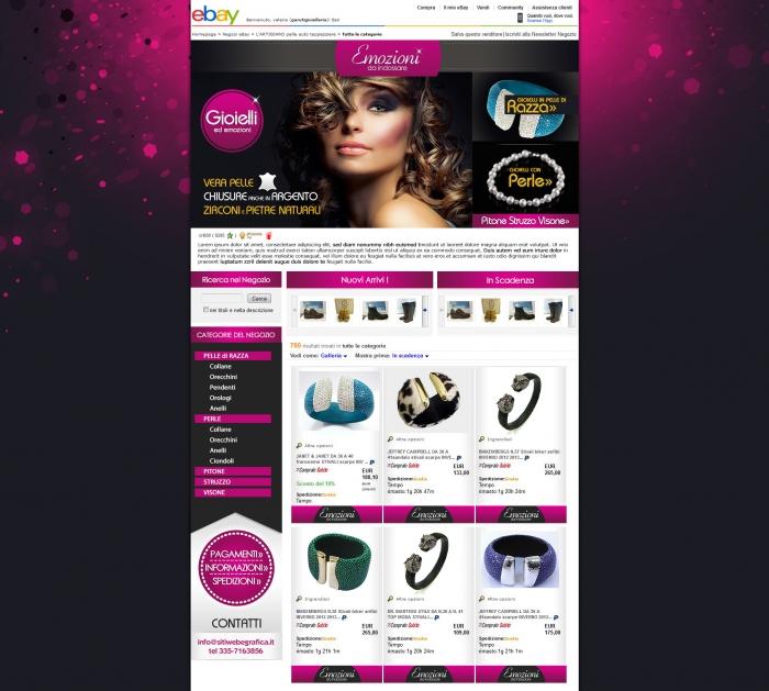 realizzazione grafica negozio ebay che vende braccialetti in pelle colorata
