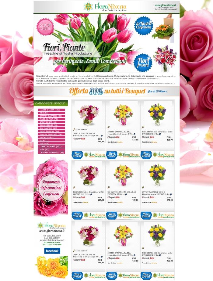 realizzazione negozio ebay che vende e spedisce fiori in tutta italia