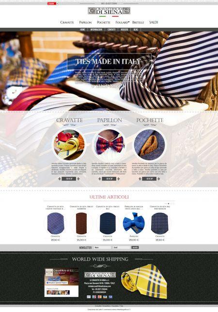 Realizzazione sito web ecommerce a siena per la vendita di cravatte sartoriali in toscana
