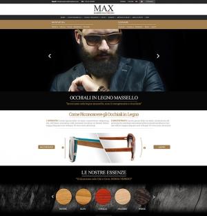 Realizzazione sito web joomla virtuemart ecommerce per la vendita di occhiali in legno