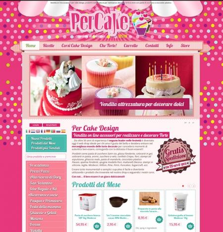 Shop online ecommerce arezzo cake design percake ad for Design vendita on line