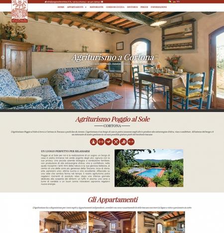 Realizzazione sito web per Agriturismo Poggio Sole a Cortona, Arezzo, in Toscana