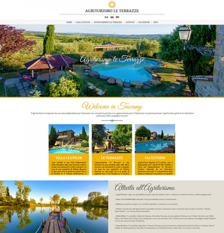 Realizzazione sito web per agriturismo con piscina in toscana ad Arezzo