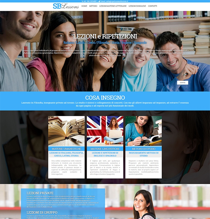 sito web per ripetizioni e lezioni di Italiano, Latino, Greco, Storia, Filosofia ad Arezzo. Corsi di lingue straniere di Inglese e Spagnolo